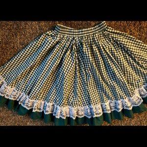 Vintage Gingham ruffle skirt
